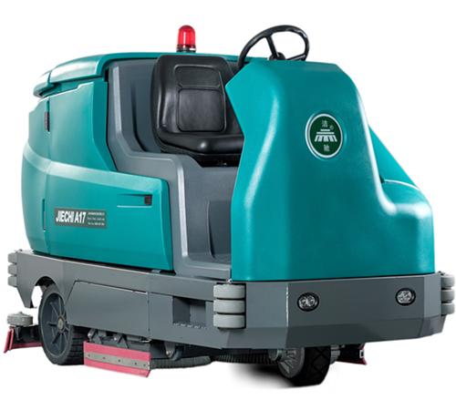 重庆大型洗扫一体机_洁驰大型驾驶式洗地机M17